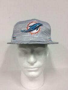 Miami Dolphins New Era 9FIFTY Blurred Trick Snapback Hat Cap Men's New