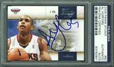 Hawks Al Horford Authentic Signed Card 2009 Panini Studio #62 PSA/DNA Slabbed