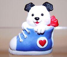 1991 New Hallmark Valentine Merry Miniature Puppy Dog in Shoe Never Used Qsm1529