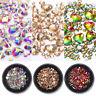 3D Nail Art Rhinestones Flat Back AB Color Gems Mixed Crystal Nail Decoration