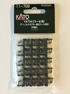 KATO N Scale 11-702 Couplers Type N Black 20pcs