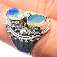 Ethiopian Opal 925 Sterling Silver Ring Size 7.75 Ana Co Jewelry R39699F