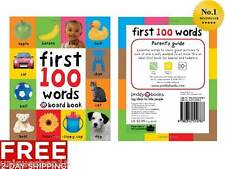 First 100 Words Childrens Books Early Learning Board Books Toddlers Baby Kids