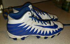 Nike Fastflex Alpha Football Cleats sneakers Blue And White size 8