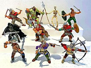 10 x Papo  Knights,Vikings,Fantasy Action Figures Bundle 2000-2004