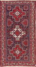 Vintage Sumak Kilim Sirjan Oriental Hand-Woven Area Rug Vegetable Dye Carpet 5x9