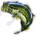 "Large Mouth Bass Fish Fishing Fisherman Car Bumper Vinyl Sticker Decal 4.6"""