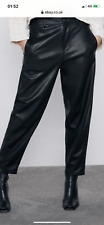 Zara faux leather trousers Medium