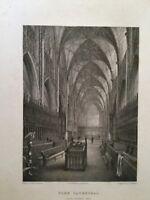 1835 - York Cathedral - Choir Looking East.  Robert Garland.