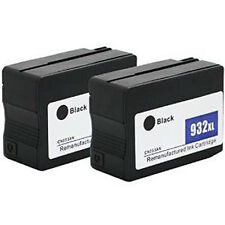 2x Remanufactured Ink Cartridges for HP 932XL CN053AN Black for OfficeJet 6100