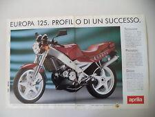 advertising Pubblicità 1990 MOTO APRILIA EUROPA 125