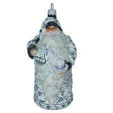 Patricia Breen - Nwt #2606 Connaught Santa Blue Chinoiserie Tea Party Ornament
