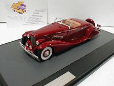 """Matrice 40406-021 # Duesenberg SJ Bohman & nero Anno di costruzione 1935 rosso scuro"""""""" 1:43"""