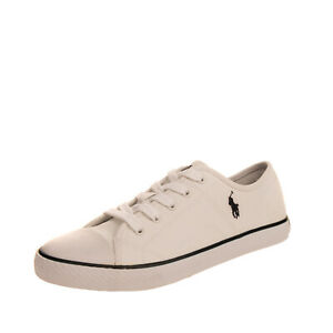 POLO RALPH LAUREN DYLAND Kids Canvas Sneakers EU 38 UK 5 US 5.5 Embroidered Logo