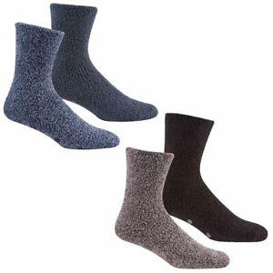 Mens Cosy Socks Soft Fleece Non Slip Thermal Lounge Slipper Gripper 6-11 Bed NEW