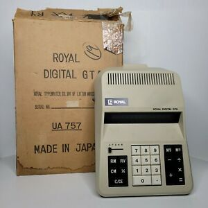 Vintage Royal Digital GTA UA 757 Calculator Royal Typewriter Company