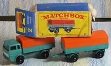 Matchbox Lesney No. 1e Mercedes Truck & 2d Trailer NMinBox Sea-Green + orange