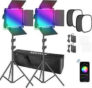 Neewer 2 Packs 660 RGB Led Light Video Lighting Kit  with APP Control / Softbox