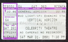Vertical Horizon 3/31/2001 Celebrity Theatre Phoenix, Arizona Ticket Stub