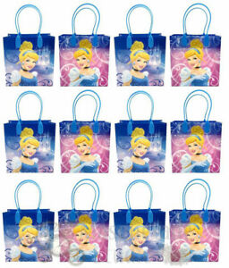 Disney Cinderella Party Favor Supplies Goody Loot Gift Bags [12ct]