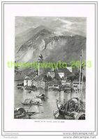 ISLAND OF ST GIULIO, LAKE OF ORTA, ITALY, Book Illustration (Print) c1875