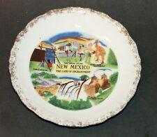 "New Mexico Souvenir Plate Land Of Enchantment Carlsbad Caverns 5.75"""