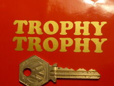 TRIUMPH TROPHY Gold script 75mm motorcycle stickers