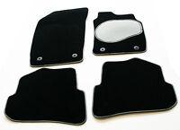 Silver / Black Trim & Grey Heel Car Mats for BMW 3 Series E46 Convertible 00-07