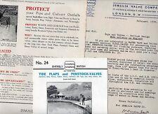 3 item 1935 LETTER + 2 Brochures ISMALIA VALVE CO Tools