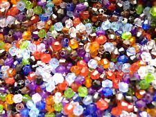 500 x 4mm Colourful Bicone Beads Assorted Colours For Craft Jewellery Making