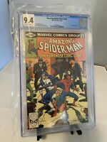 JUST GRADED CGC 9.4 SPIDER-MAN 202 NM WHITE PAGES EARLY PUNISHER APPEARANCE