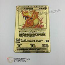 Carte Pokemon Gold Dracaufeu / Charizard Metal Card Fan Made / GX / EX / 4/112