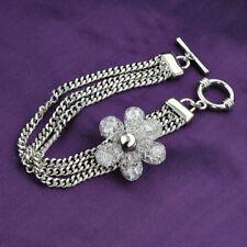 White Gold Plated Tennis Bracelet Made with Swarovski Crystal Wedding Bridal