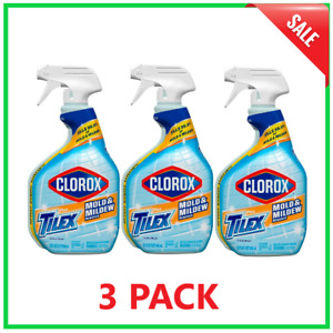 Tilex 32 Oz. Mold And Mildew Remover, Stain Cleaner Spray With Bleach (3 Pack)