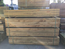 Treated Pine H4 Sleepers 200x75 1.8m Retaining Wall Garden Bed Boxing Edging