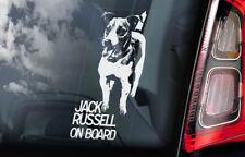 Jack Russell Car Sticker, Terrier Dog Window Sign Bumper Decal Gift Pet - V01