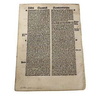 RARE 1510 Post Incunable Early Leaf From German Reformation Era Theology Book A