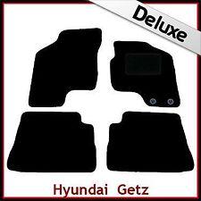 HYUNDAI Getz 2002-2011 1300g DI LUSSO SU MISURA TAPPETINI AUTO MOQUETTE NERA