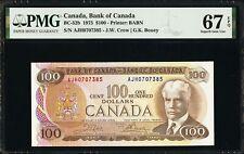 1975 Canada Bank of Canada $100 PMG 67 EPQ - Pick 91b BC-52b Superb Gem Unc Rare