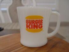 Fire-King D Handled Burger King Hamburgers Advertising Coffee Mug
