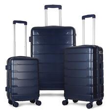 3 Piece Hardshell Lightweight Suitcase Set Hardside Spinner Wheel Luggage Grey