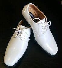 Stacy Adams Boys White Dress Shoes with Laces Sizes 3.5-5.5.5