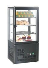 Mini-Kühlvitrine 68 schwarz - Kalte Theke  - Aufsatzkühlvitrine