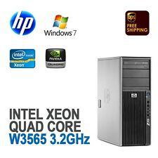 HP Z400 Workstation Quad Core XEON W3565 3.2GHz 8GB 1TB FX1800 Windows 7 Pro
