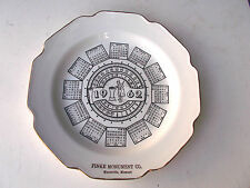 VINTAGE-22K- 1962 FATHER TIME CALENDAR BIRTHDAY COLLECTOR CERAMIC PLATE!