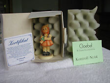 """Hummel Figurine, 239/B Girl with Doll, 3.5"""" H- $120 V Mint Condition in box"""