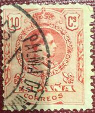Sello Alfonso XIII 1909 Edifil  269 10c. Matasellos Palma de Mallorca