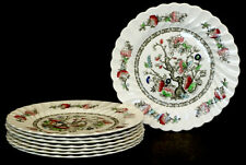 Set of 8 Vintage MYOTT Staffordshire England INDIAN TREE Dinner Plates / Plate