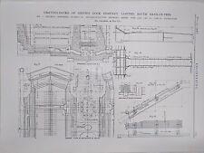 Graving Docks Of Smith's Dock Company On Tees: 1908 Engineering Magazine Print