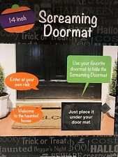 "14"" Halloween Screaming Doormat Welcome Mat Spooky Screaming & Thunder Sounds"